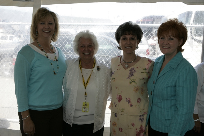 Treasured friends Gaye Joy, Lynda Petty and Stevie Waltrip